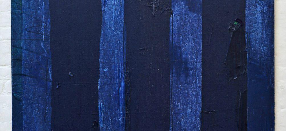 """Die Nacht"", 180x150 cm, Acrylfarbe, Jute, 2015"