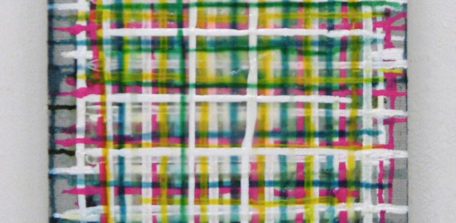 """""""Haze"""", 40x30 cm, Acrylfarbe, Jute"""
