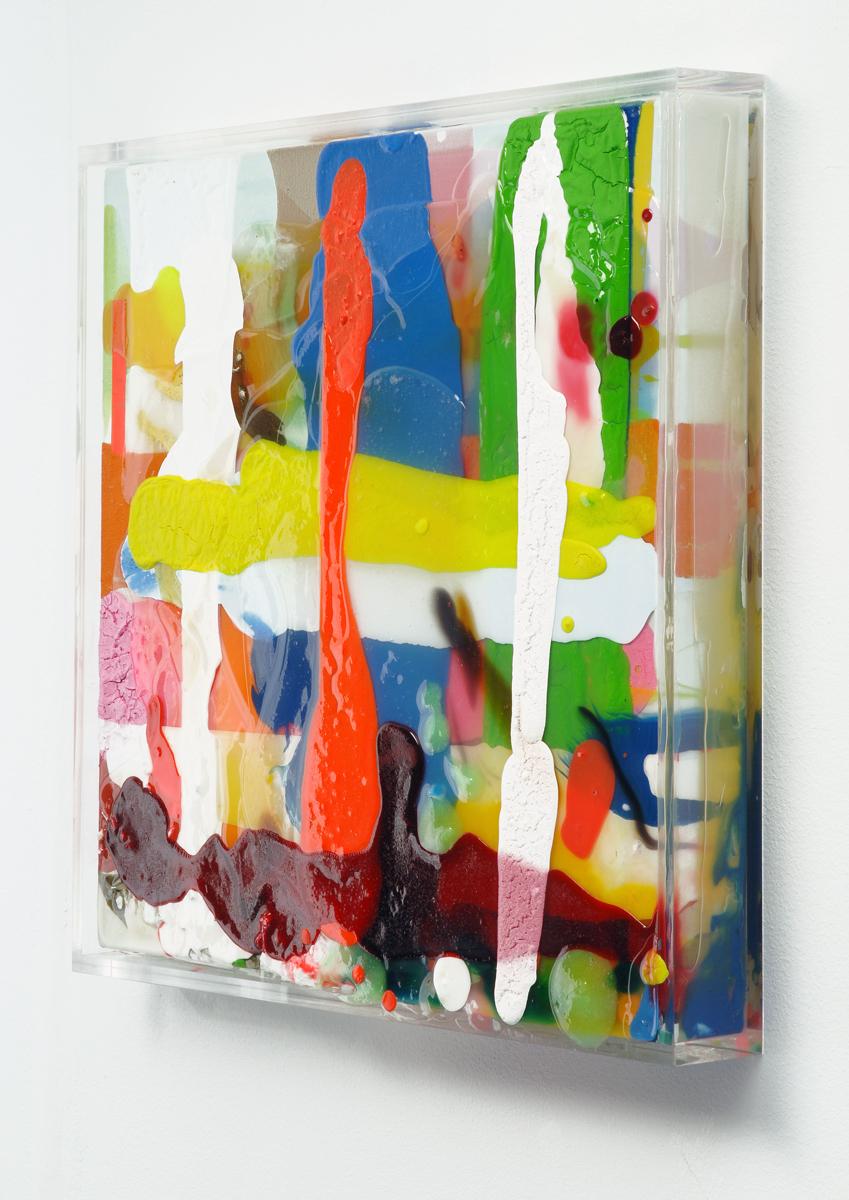 O.T. 2006, 43x43 cm, Plexi, Acryl, LW