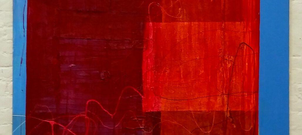 """Traum"", 180x150 cm, Jute, Baumwolle, Acryl, 2015"