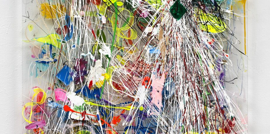 """Grüner Stern"", 2014, Acrylfarbe, Plexi"