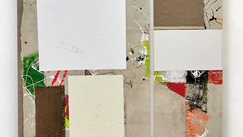 """Losing the Same"", 170x110 cm, Acrylfarbe, div.Stoffe, Leinwand, 2018"