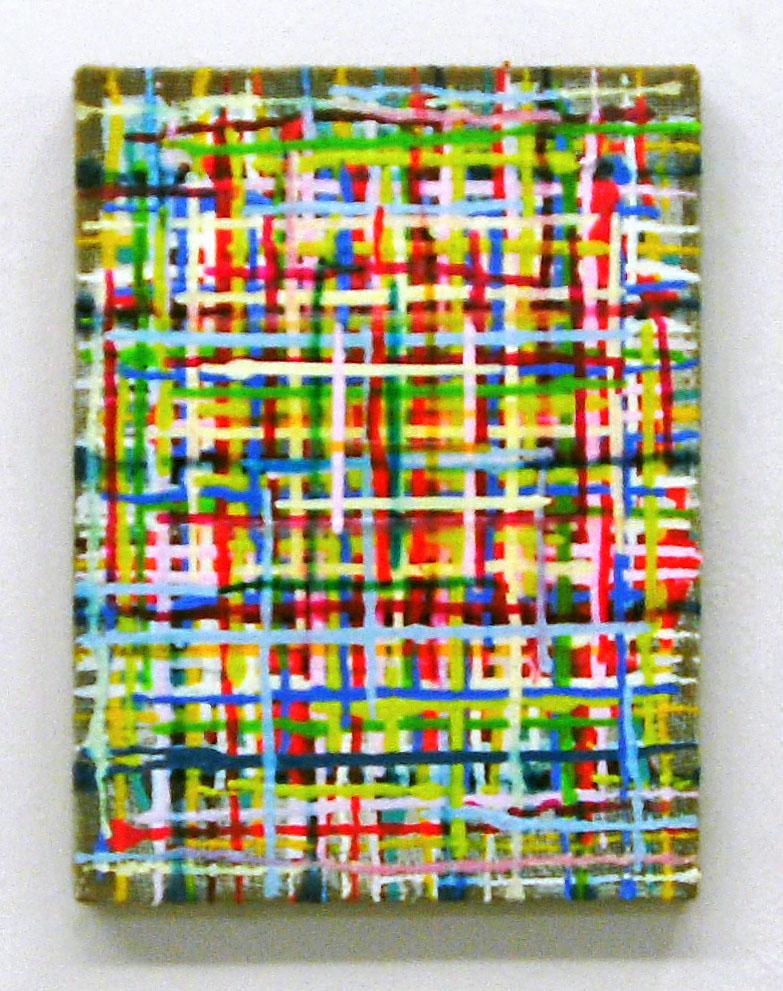 """Young"", 40x30 cm, Acrylfarbe, Jute"
