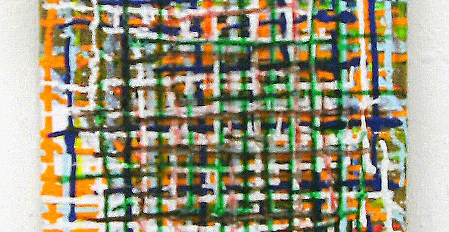 """Old"", 40x30 cm, Acrylfarbe, Jute"