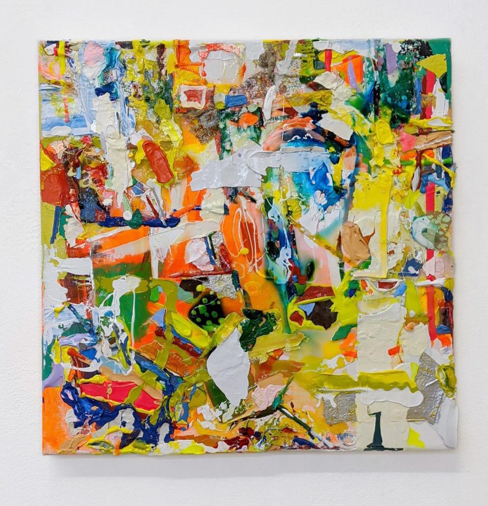 """""""Eutopia"""", 50x50 cm, Acrylfarbe, Leinwand, 2020"""