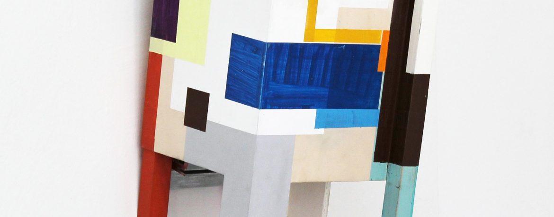"""""""Look or sit!"""", 44x30x33 cm, Acrylfarbe, Holz, 2014"""