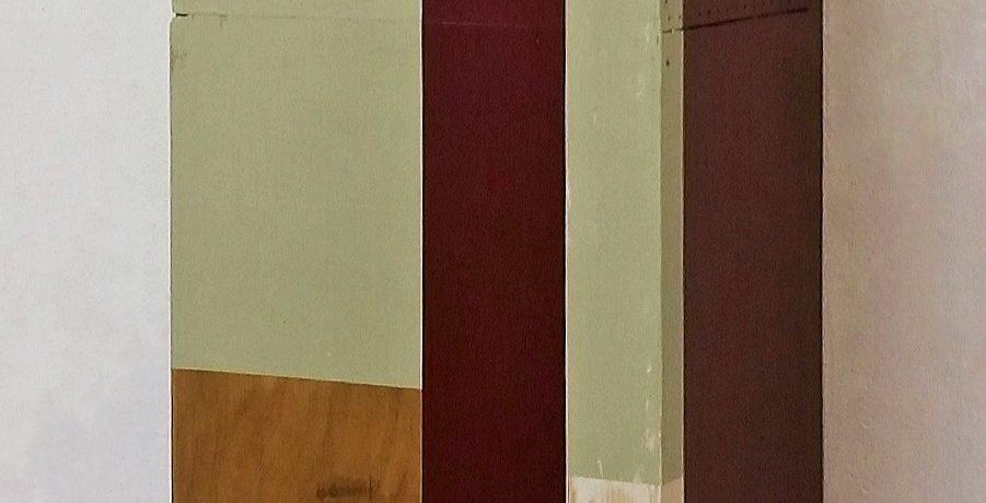 """""""Schutzraum"""", Acrylfarbe, Sperrholz, Holz, 2015"""