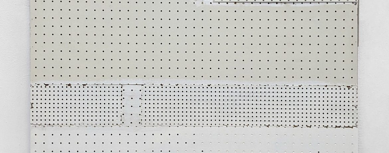 """Hohlwürfel"", 110x100x7 cm, Acryllack, Hartfaser, Holz, 1992"