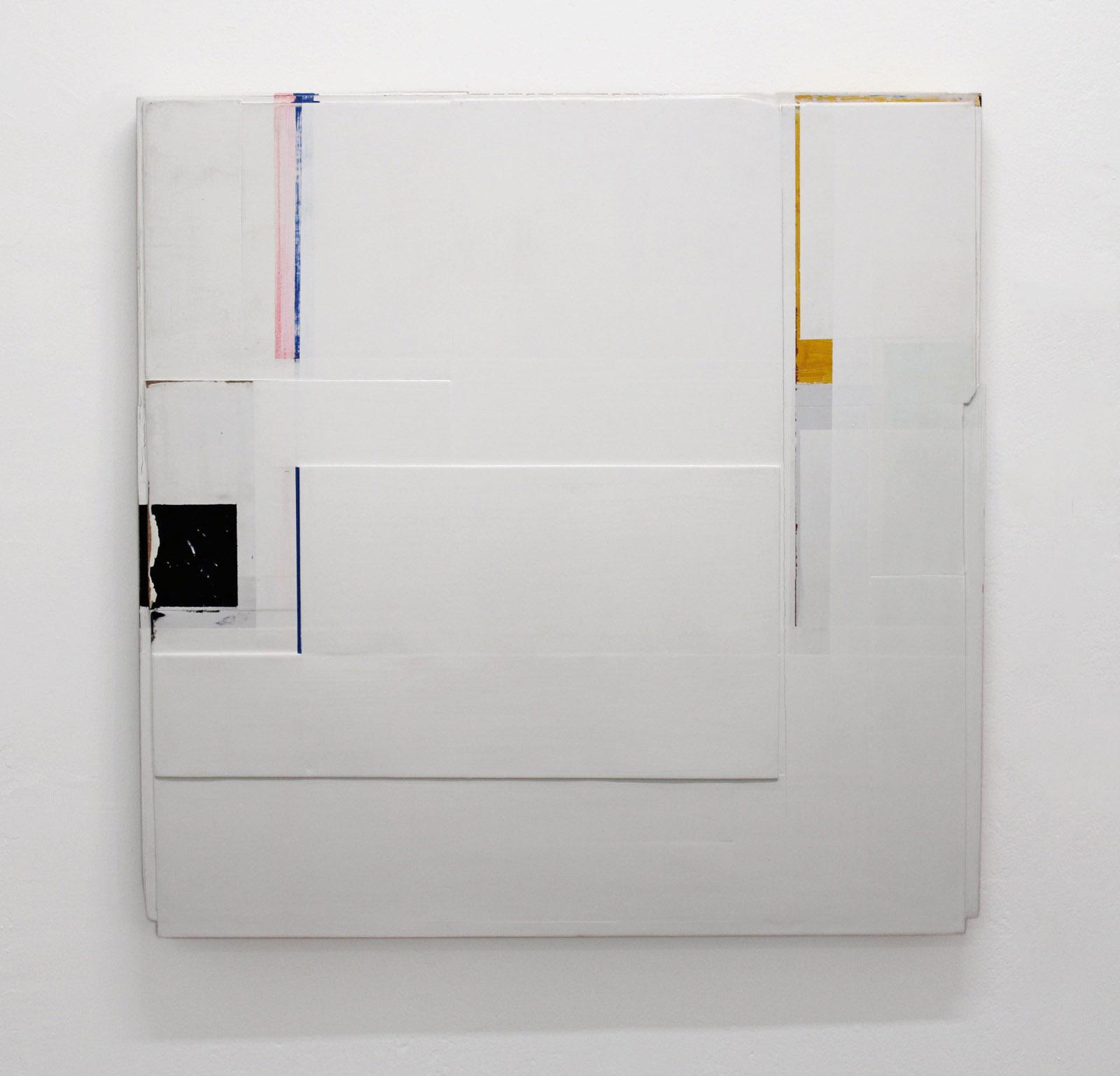 O.T., 100x110x5,5 cm, Acryllack, Holz, 1996