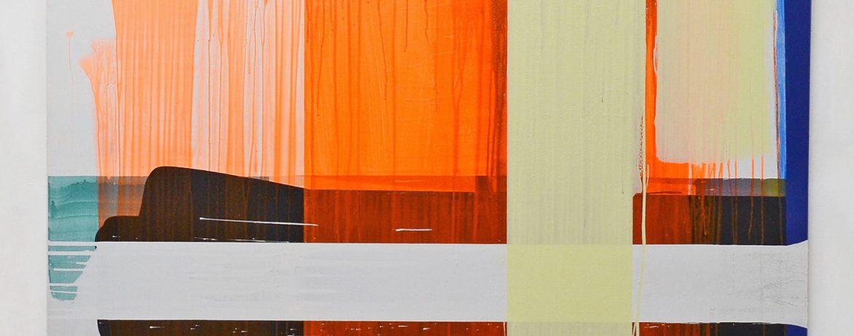 """""""Rot Orange"""", 220x190 cm, Acrylfabe, Leinwand, 2003"""