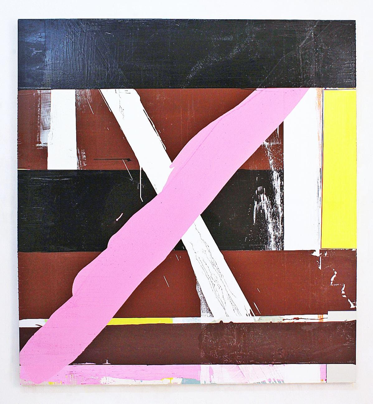 """In Between"", 200x200 cm, Acrylfarbe, Leinwand, 2003"