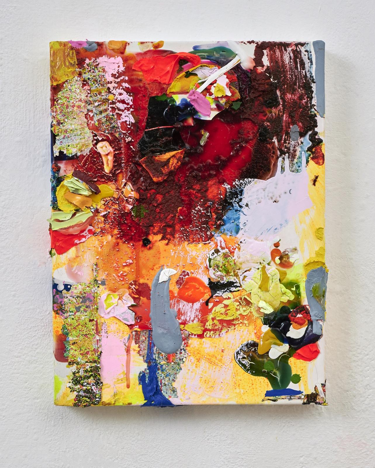 Kopfstück, 40x30 cm, Acrylfarbe, Leinwand, 2019