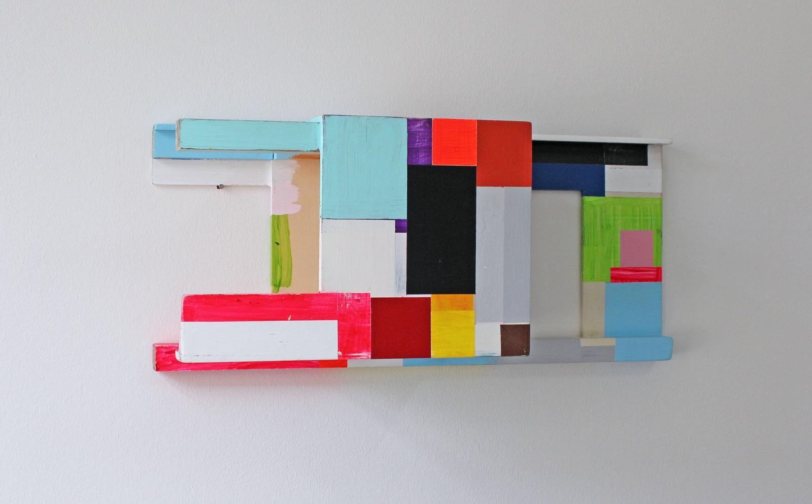 """""""Langes Objekt"""", 80x26x30 cm, Acrylfarbe, Holz, 2012"""