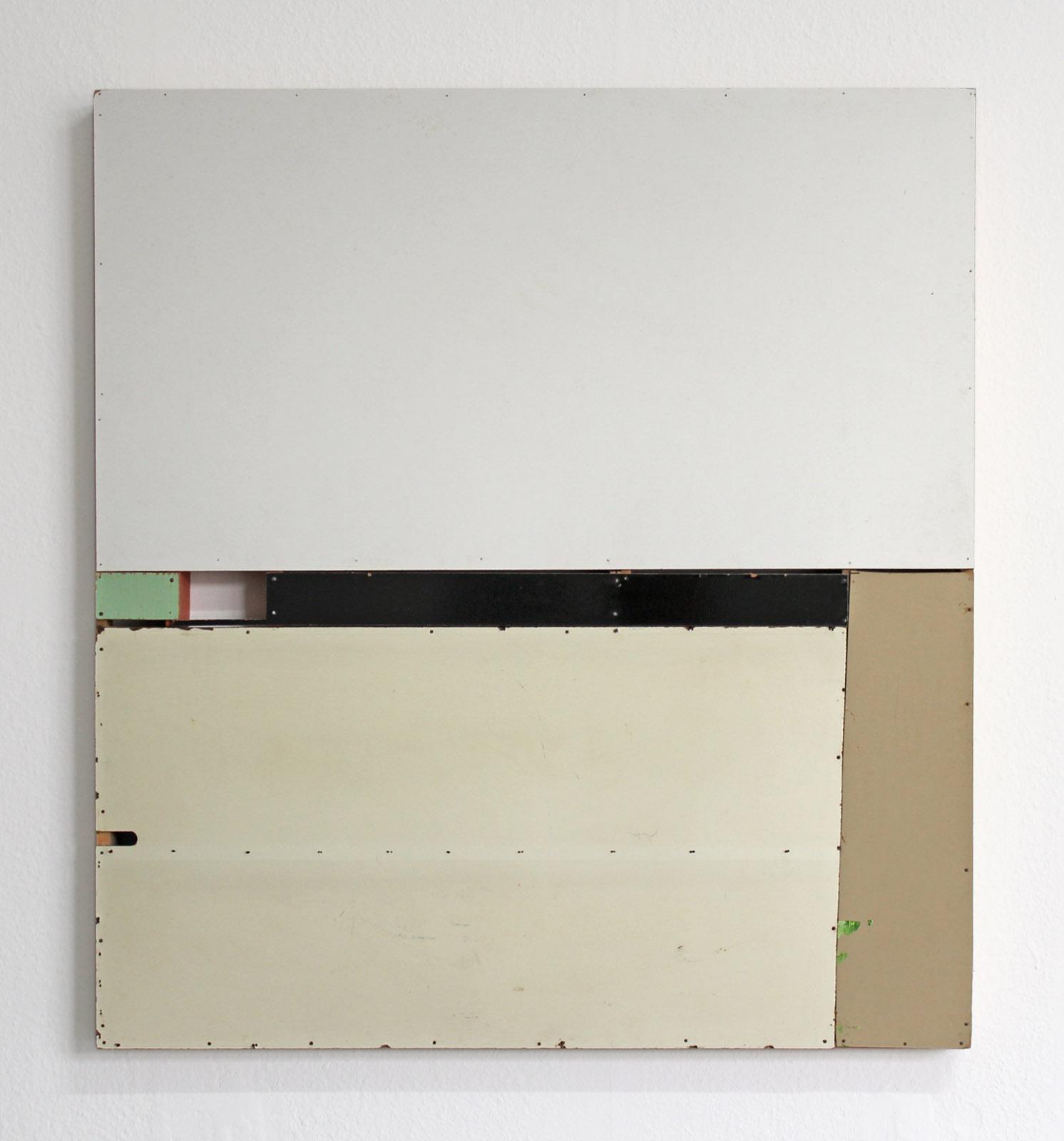"""Organkammer"", 100x113x7 cm, div.Faserplatten, Holz, 1992"