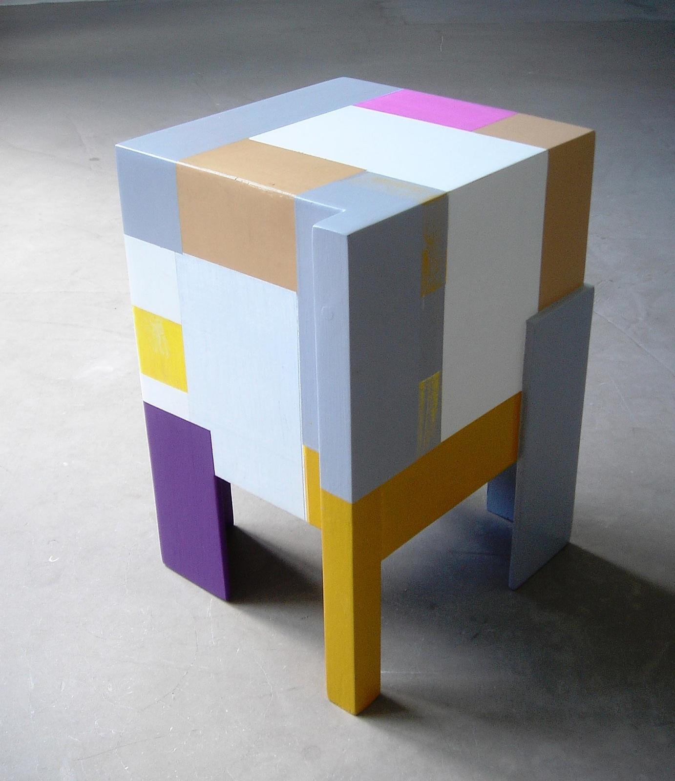 """""""Modell"""", 45x31x34 cm, Acrylfarbe, Holz, 2014"""