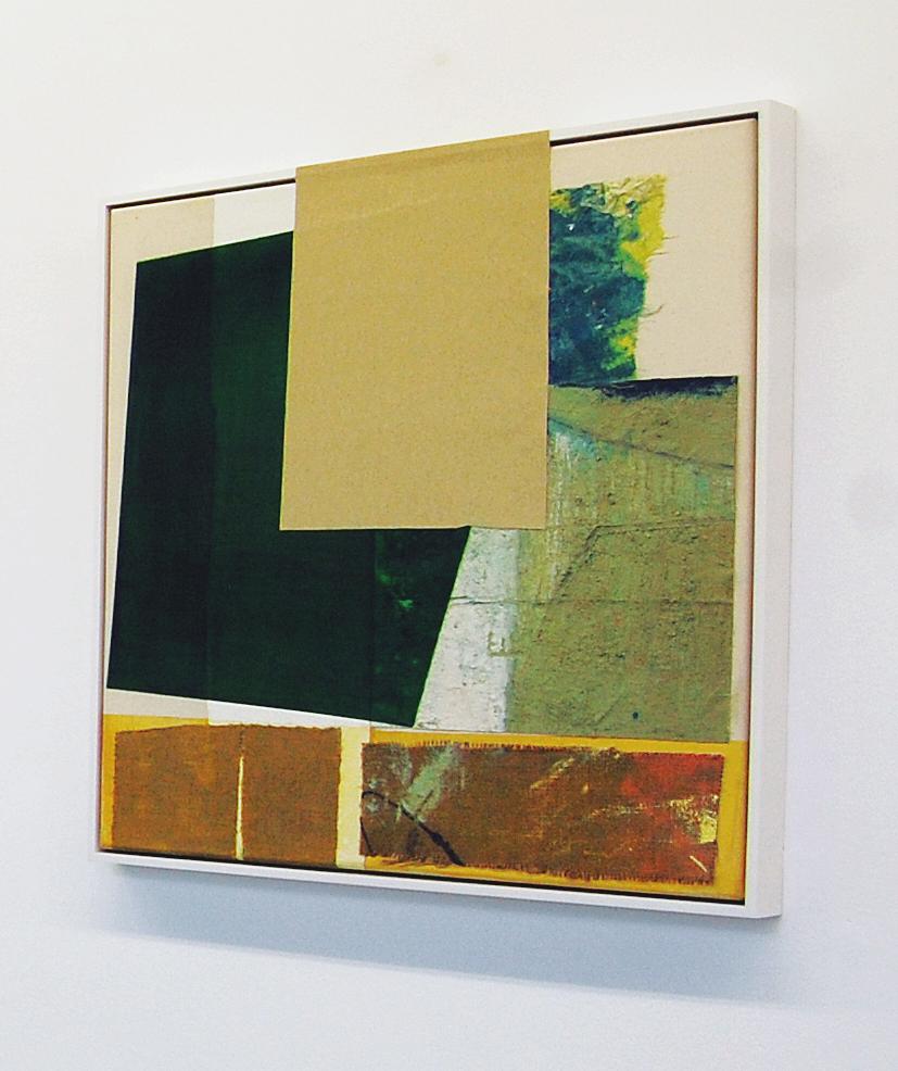 """Philipp"", Acrylfarbe, div.Stoffe, Holz, 2018"