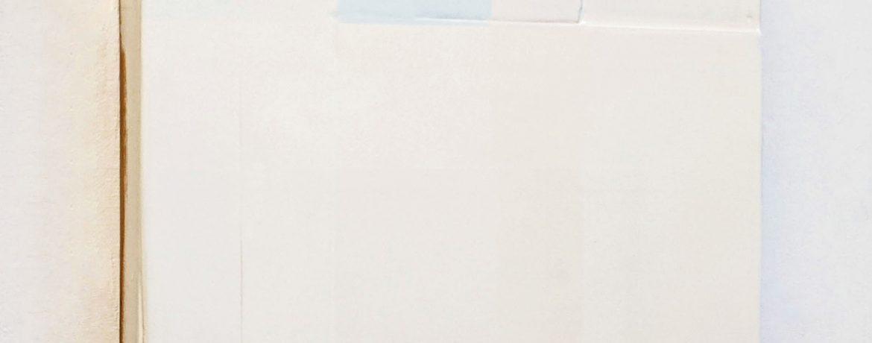 """Bogen"", 49x49x6 cm, Acrylfarbe, Holz, 1992"