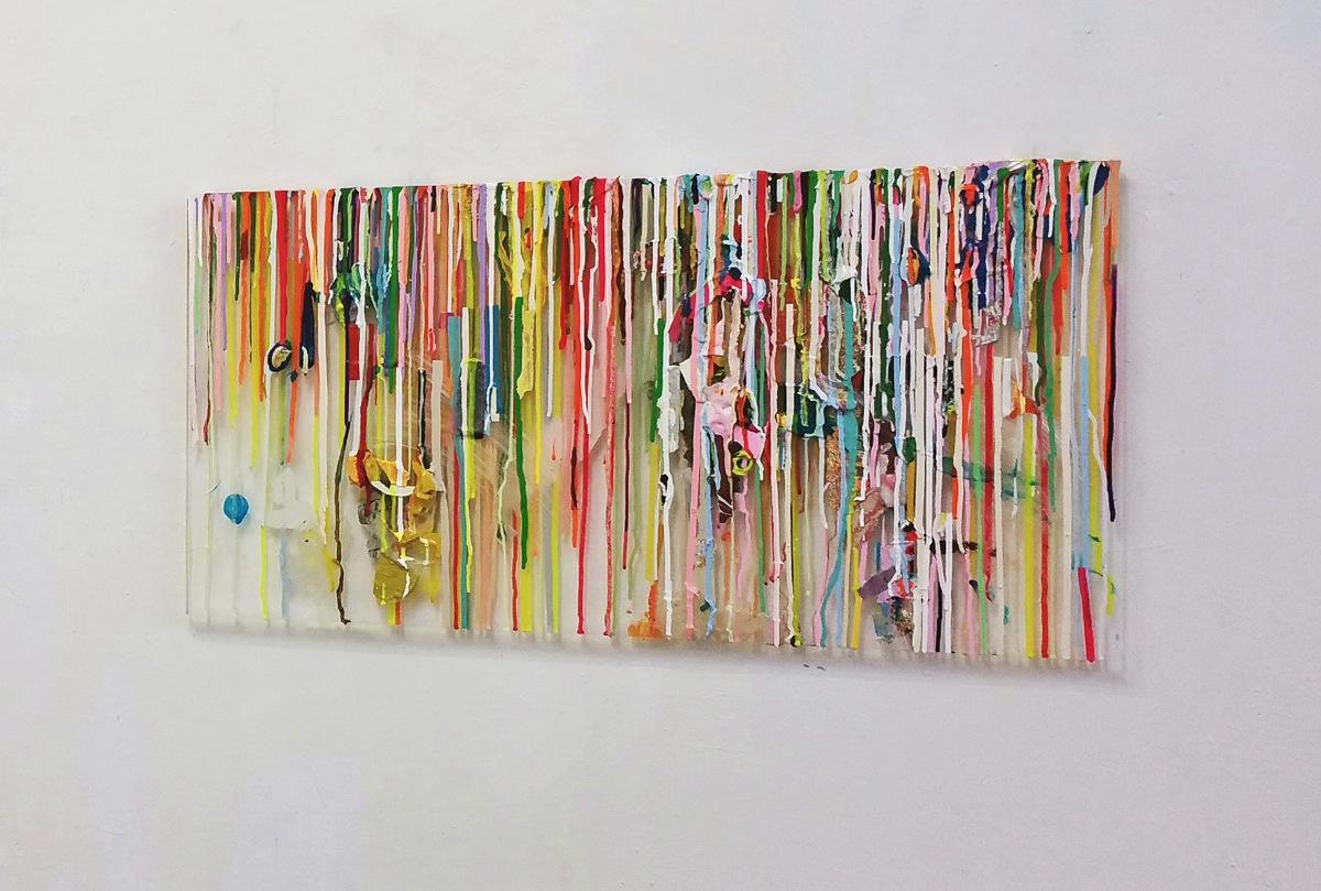 Bank of Colors, 51x75cm, Acrylfarbe, Plexi, 2019