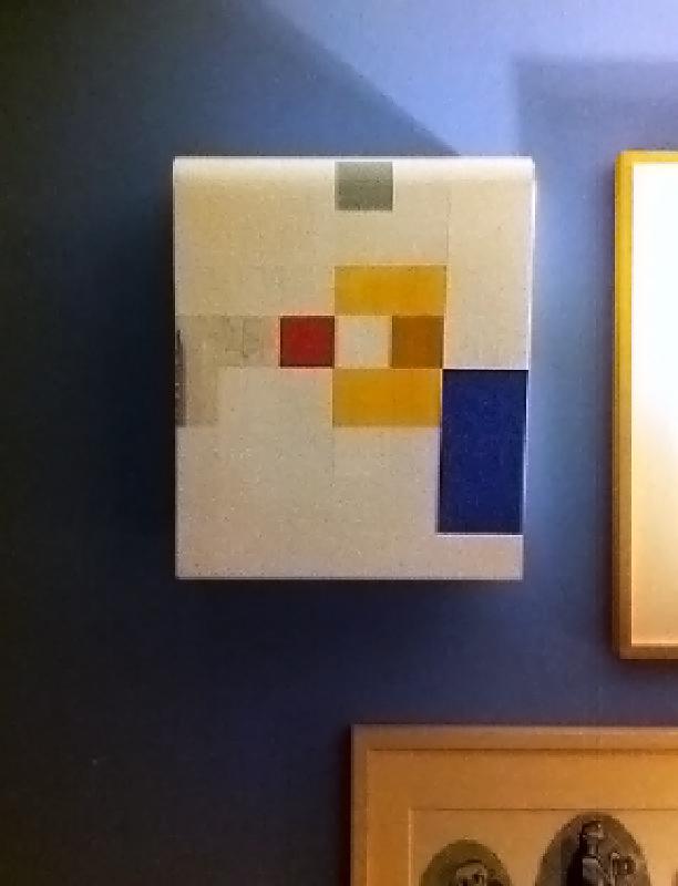 """Kunst ist kostbar I"", 40x30x21 cm, Acrylfarbe, Holz, 1991 (Privatsammlung Harlem ND)"