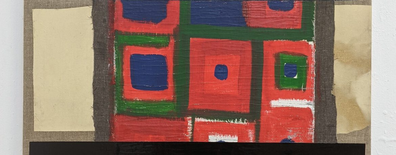 """Nationalgalerie"", 70x70 cm, Acrylfarbe, Ölfarbe, Baumwolle, Leinwand, 2016"