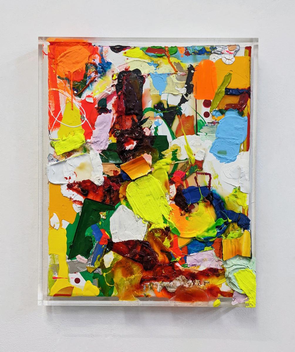 Too much, 53x43x5 cm, Acrylfarbe, Leinwand, Plexi, 2020