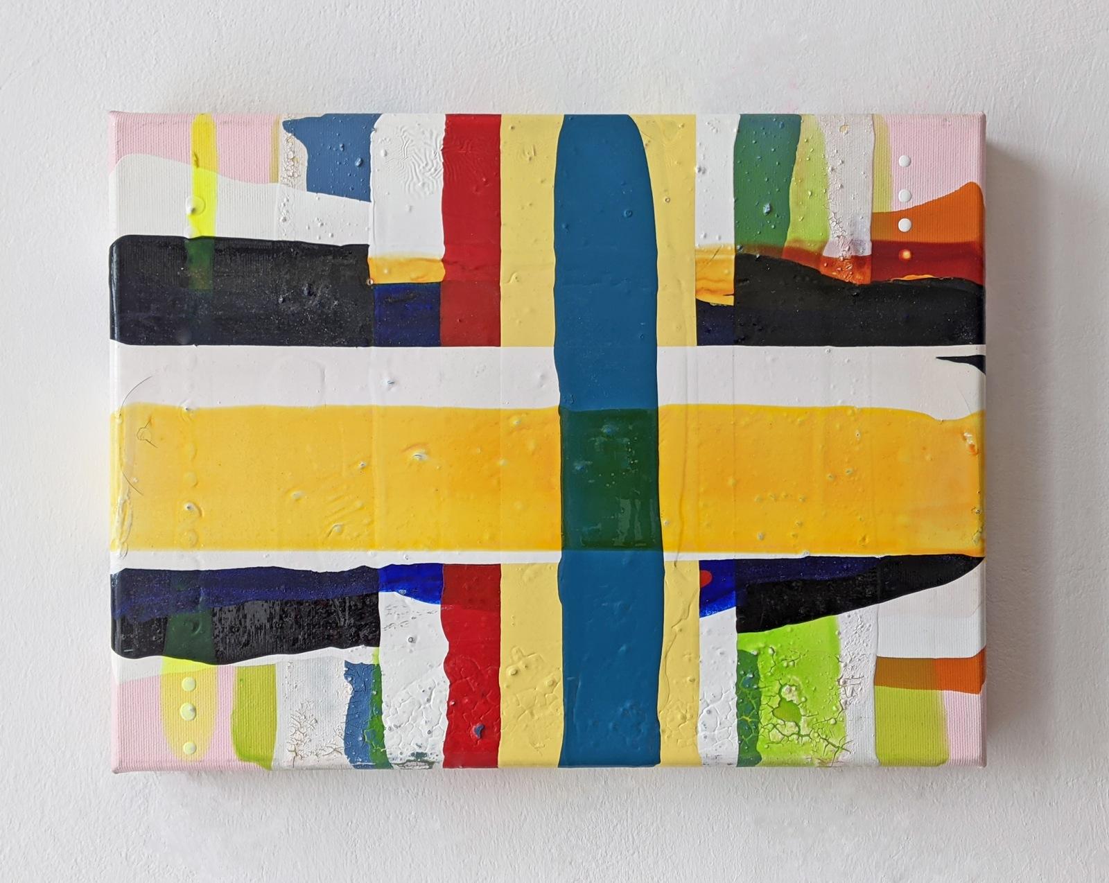 J JP, 40x30 cm, Acrylfarbe, Leinwand, 2005