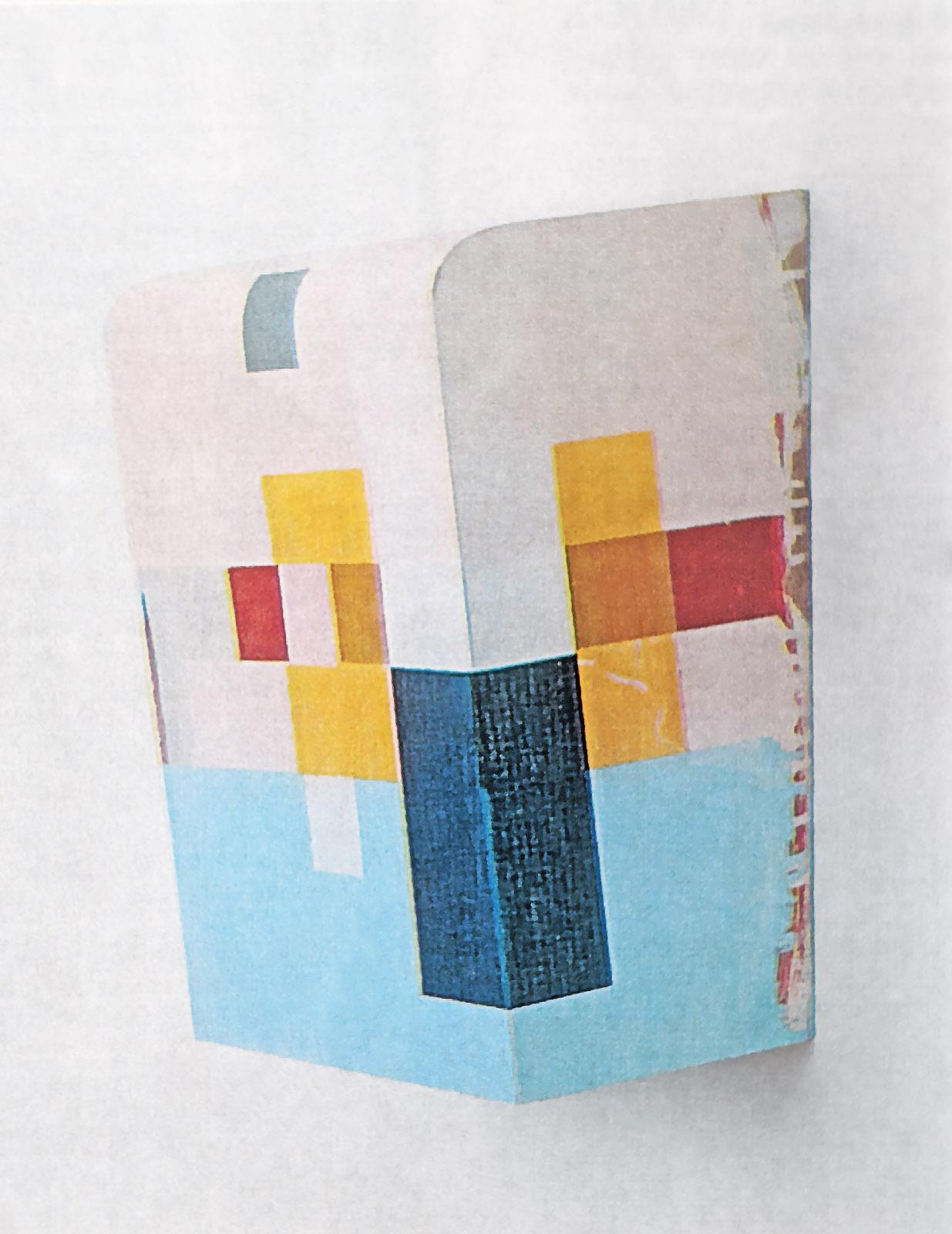 """""""Kunst ist kostbar II"""", 43x33x21 cm, Acrylfarbe auf Holz, 1994"""