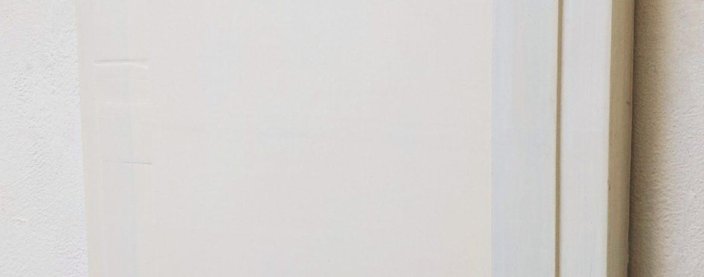"""""""W"""", 49x49x5 cm, Acrylfarbe, Holz, 1993"""