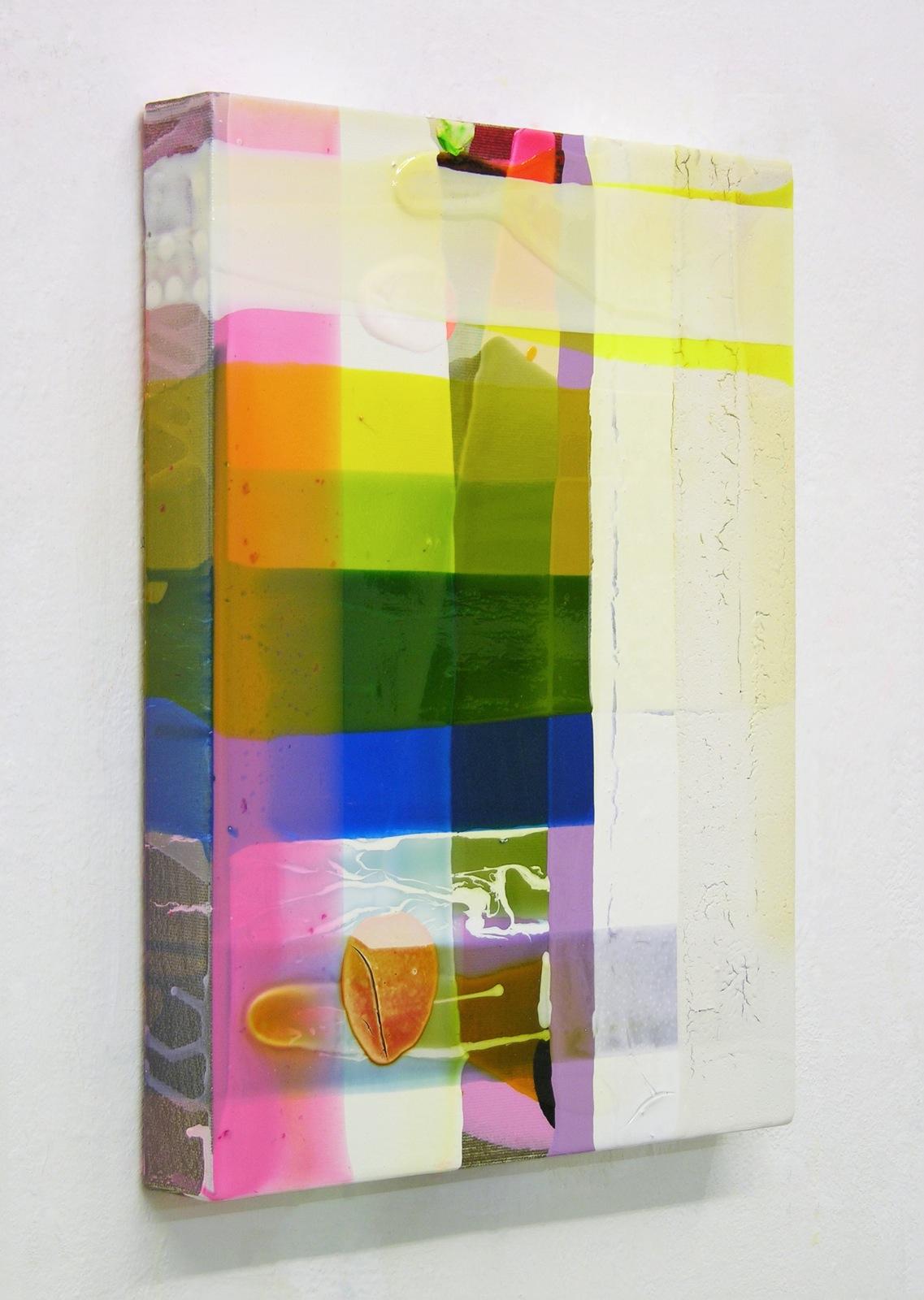O-T. nah, 40x30 cm, Acrylfarbe, Leinwand, 2005