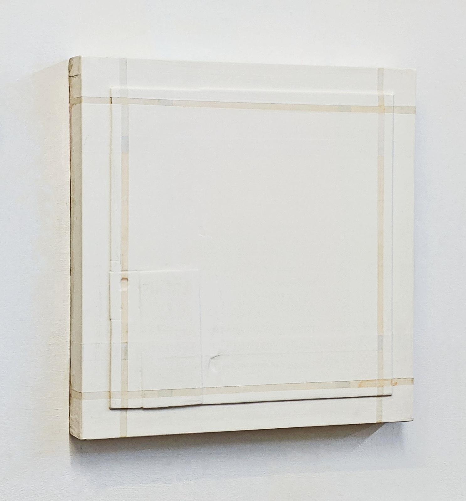 """""""Tuch"""", 49x49x6 cm, Acryllack, Holz, 1993"""