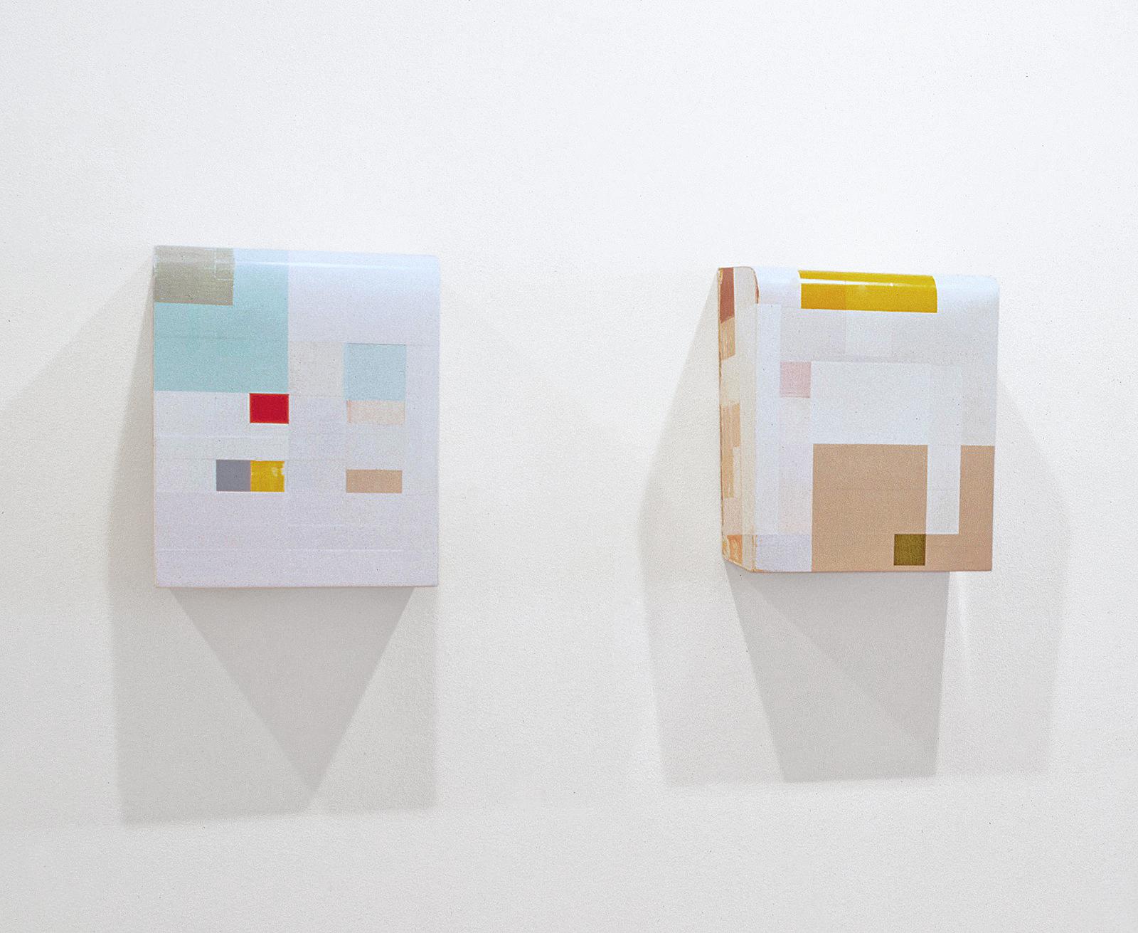 """Kunst ist kostbar III+IV"", 40x30x21 cm, Acrylfarbe, Holz, 1991"