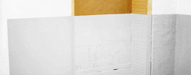 """Outcoming"", Acrylfarbe, Presspappe, Holz, 1995"