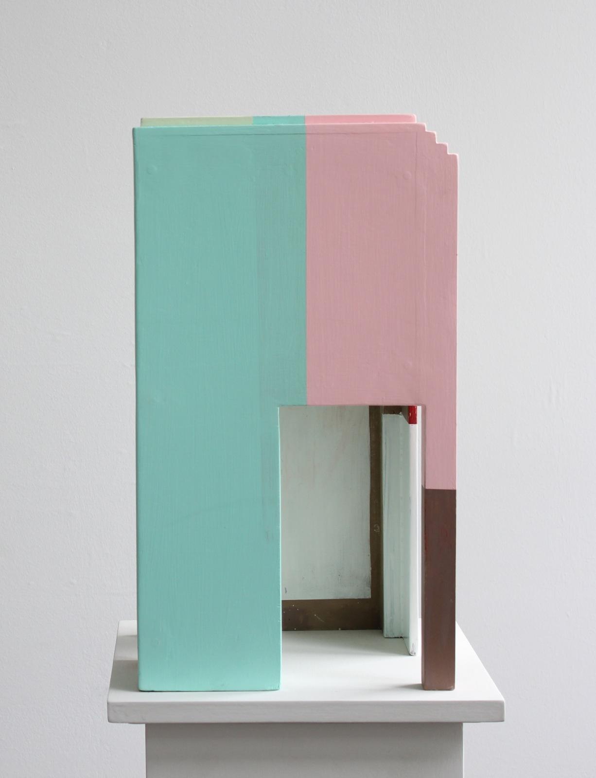 """""""Replik IVd"""", 52x28x26 cm, Acrylfarbe, Holz, 2015"""