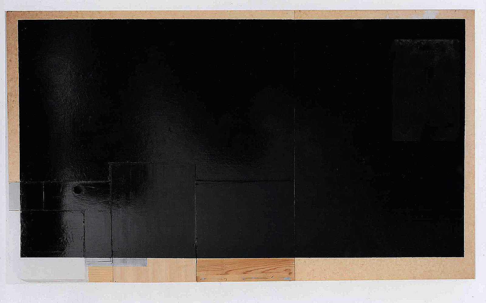 """""""Schwarz"""", 209x130x10 cm, Acryllack, Holz, Metall, 1993"""