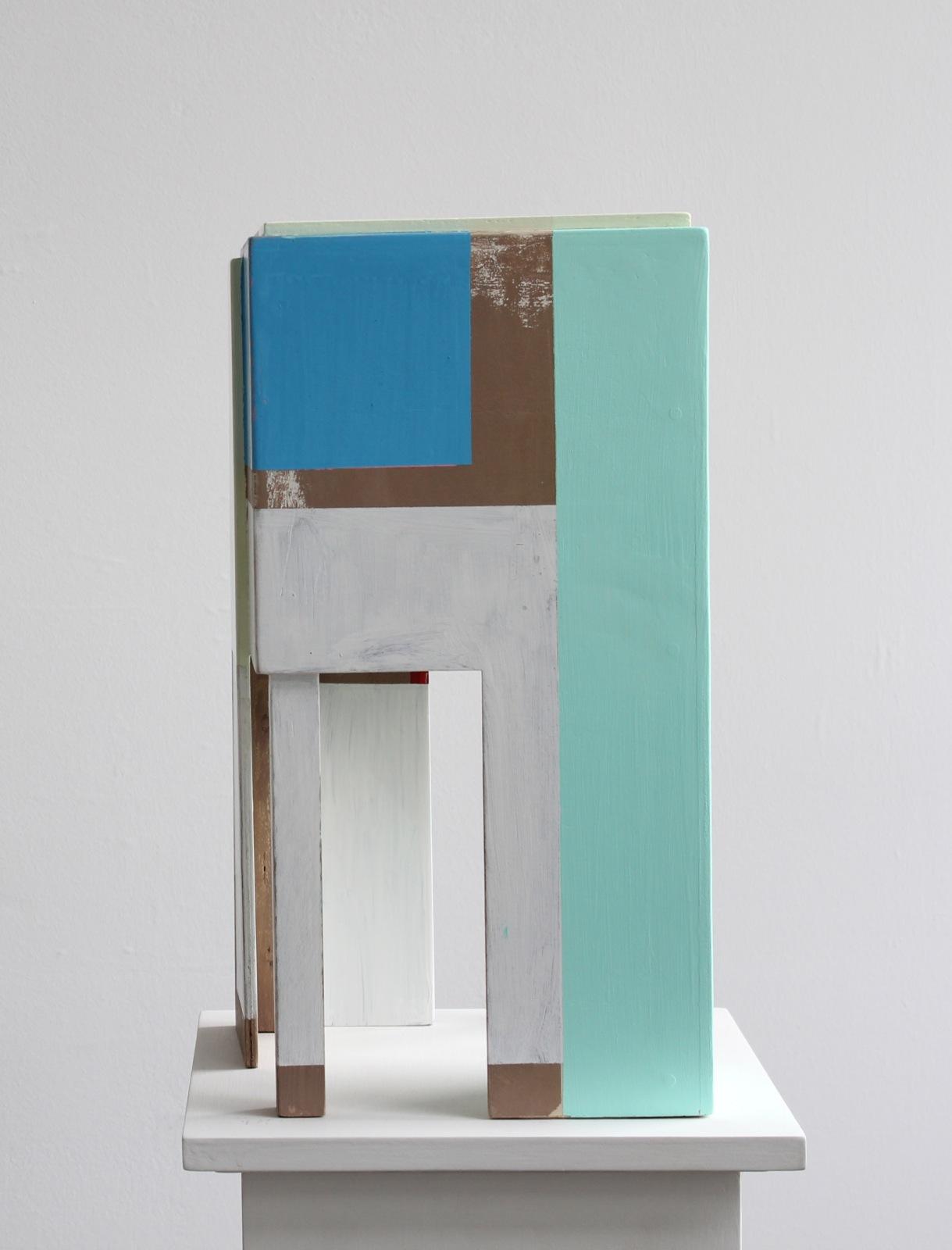 """""""Archithektur Modell"""", 51x26x28 cm, Acrylfarbe, Holz, 2015"""