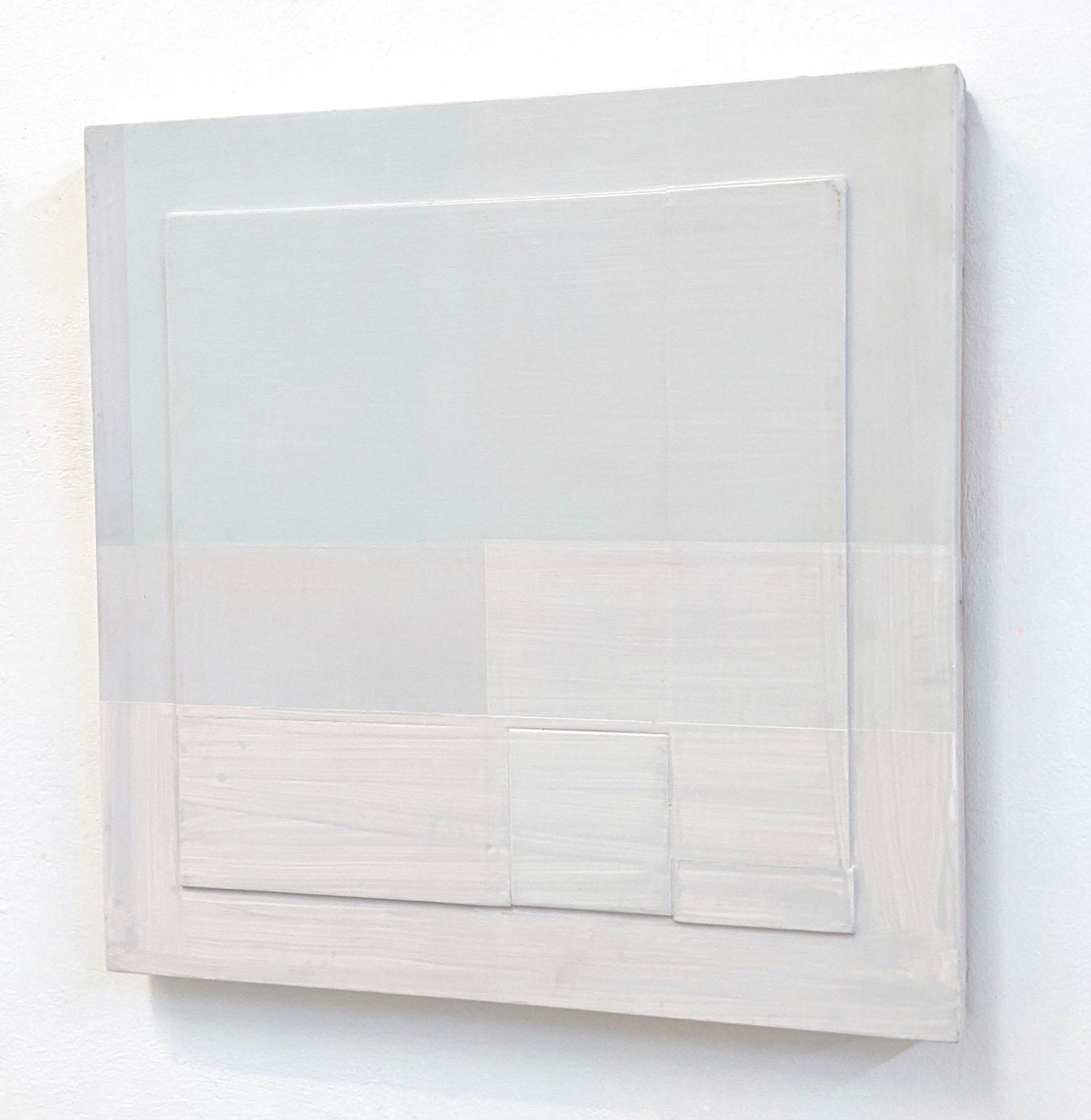 """""""V"""", 49x49x5 cm, Acryllack, Holz, 1993"""