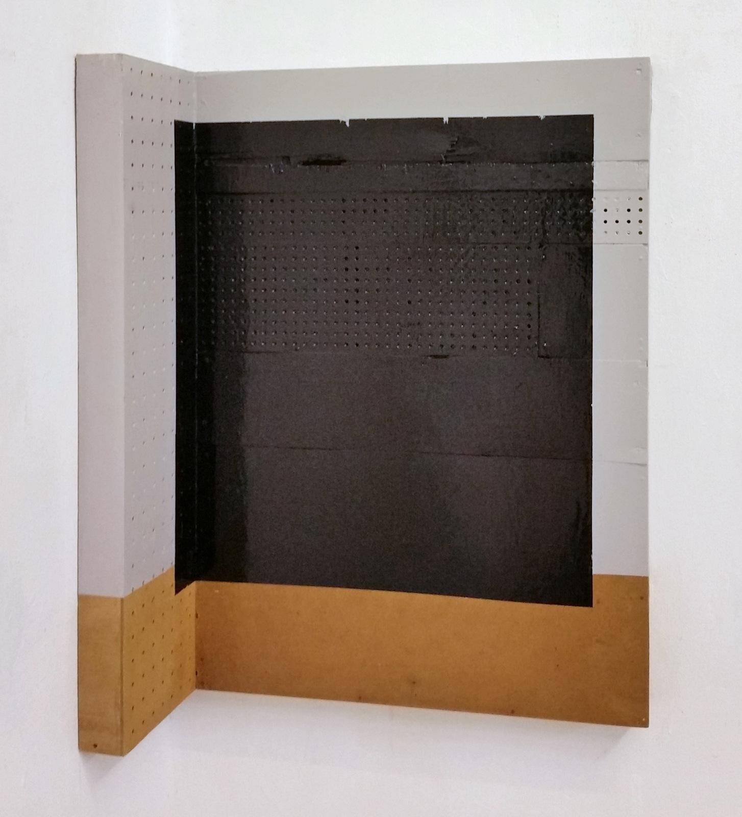 """""""Black Eck"""", 75x49x25 cm, Acrylfarben, Hartfaser, Holz, 1996"""