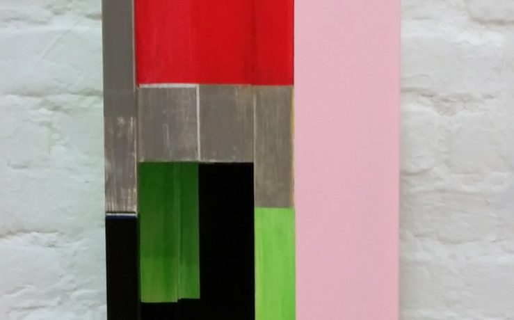 Sitzobjekt A-II, Acrylfarbe, Pappelsperrholz, 2013