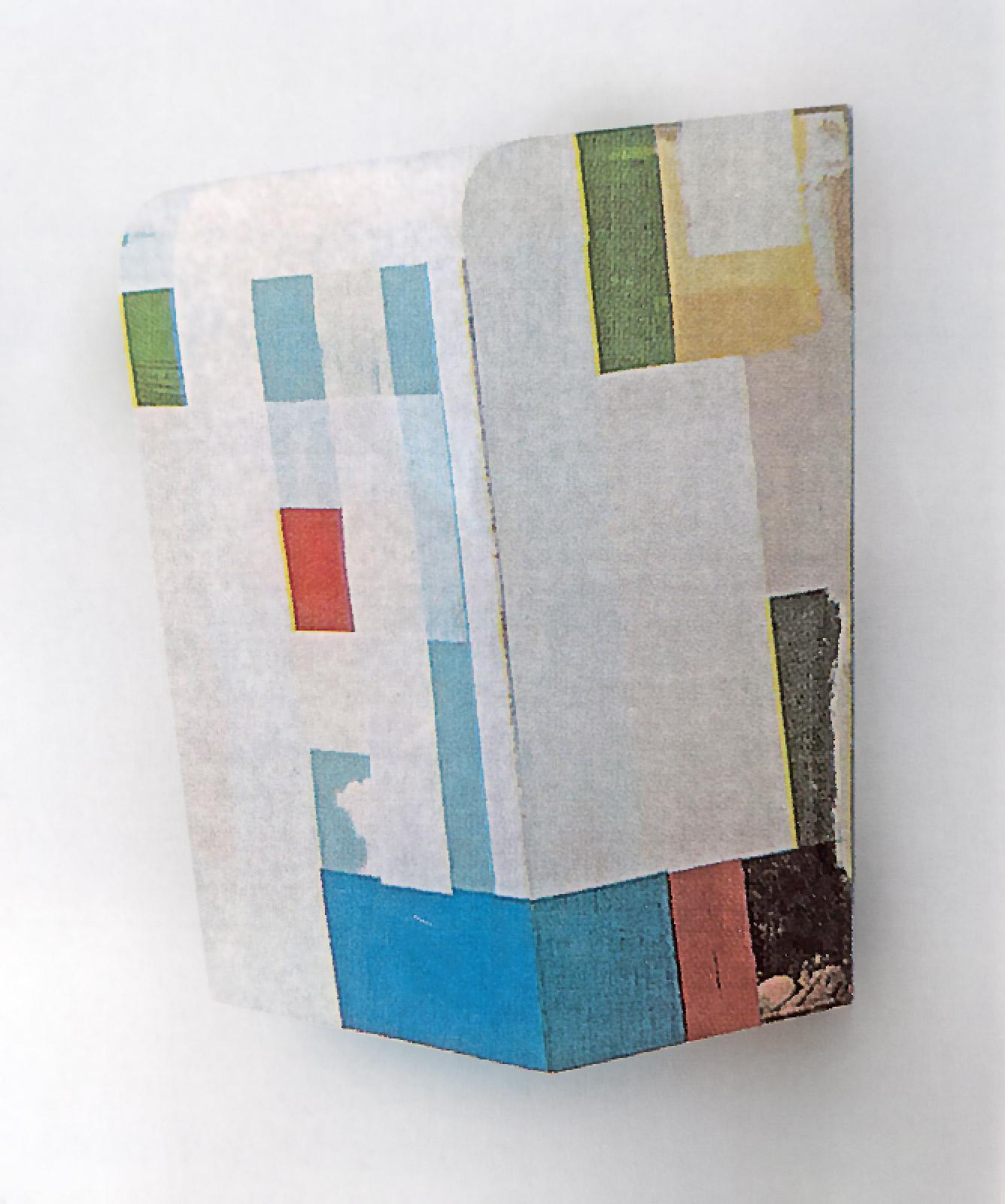 """Kunst-ist-kostbar-II"", 43x33x21 cm, Acryl, Holz"
