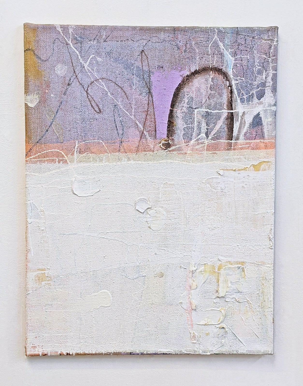 """""""Zweite Hilfe"""", 80x60 cm, Acrylfarbe, Jute, 2015"""