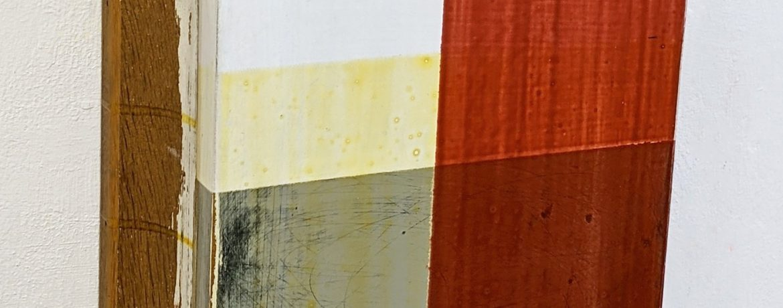 """Sockel II"", 32x33x11 cm, Acrylfarbe, Holz, 1996"