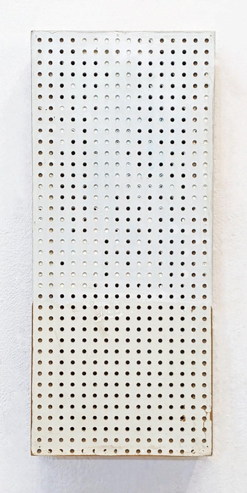 """Zählen"", 49x21x10 cm, Acrylfarbe, Presspappe, Holz, 1993"