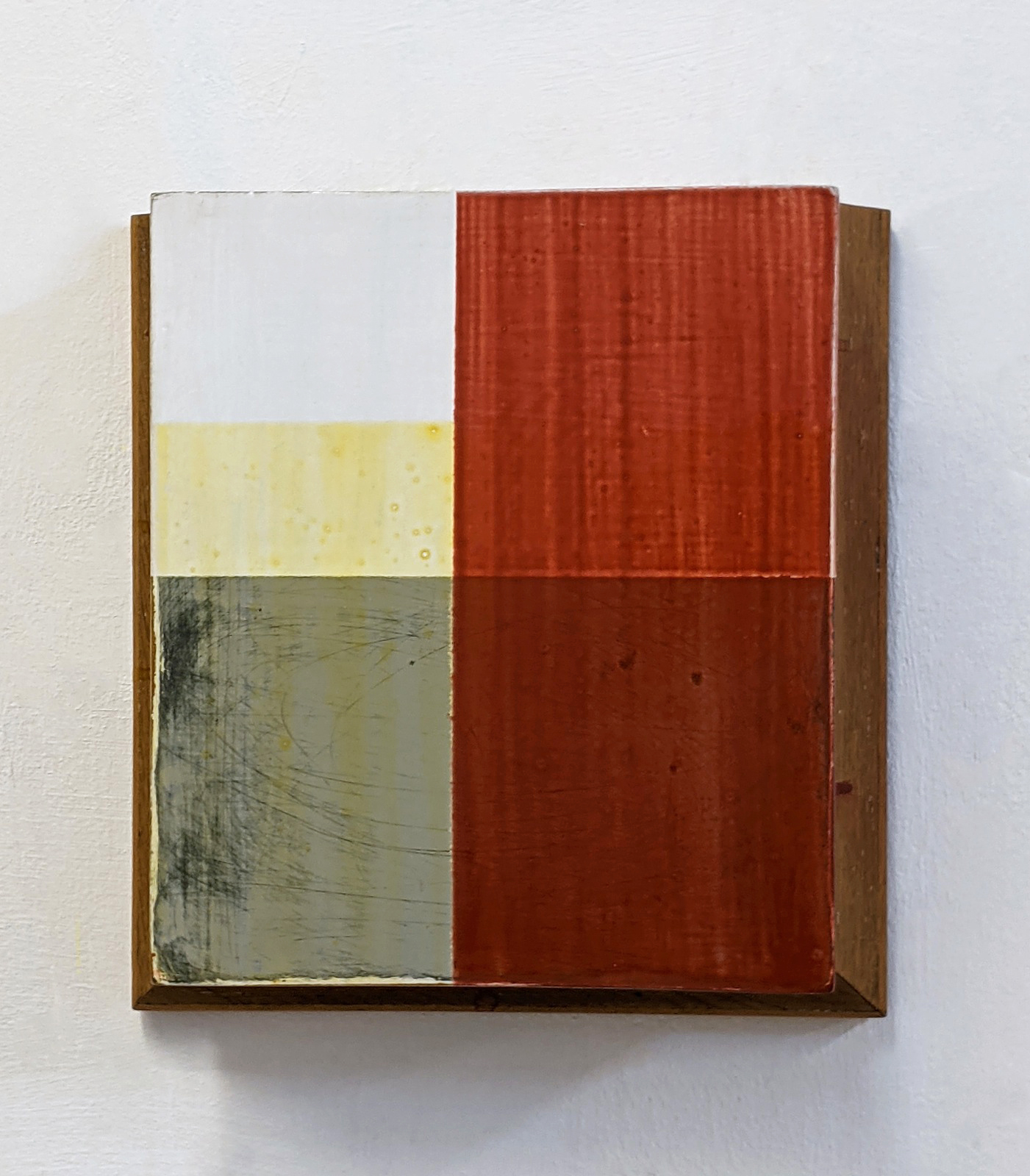 """Sockel II"", 31,5x33x11 cm, Acrylfarbe, Holz, 1993"