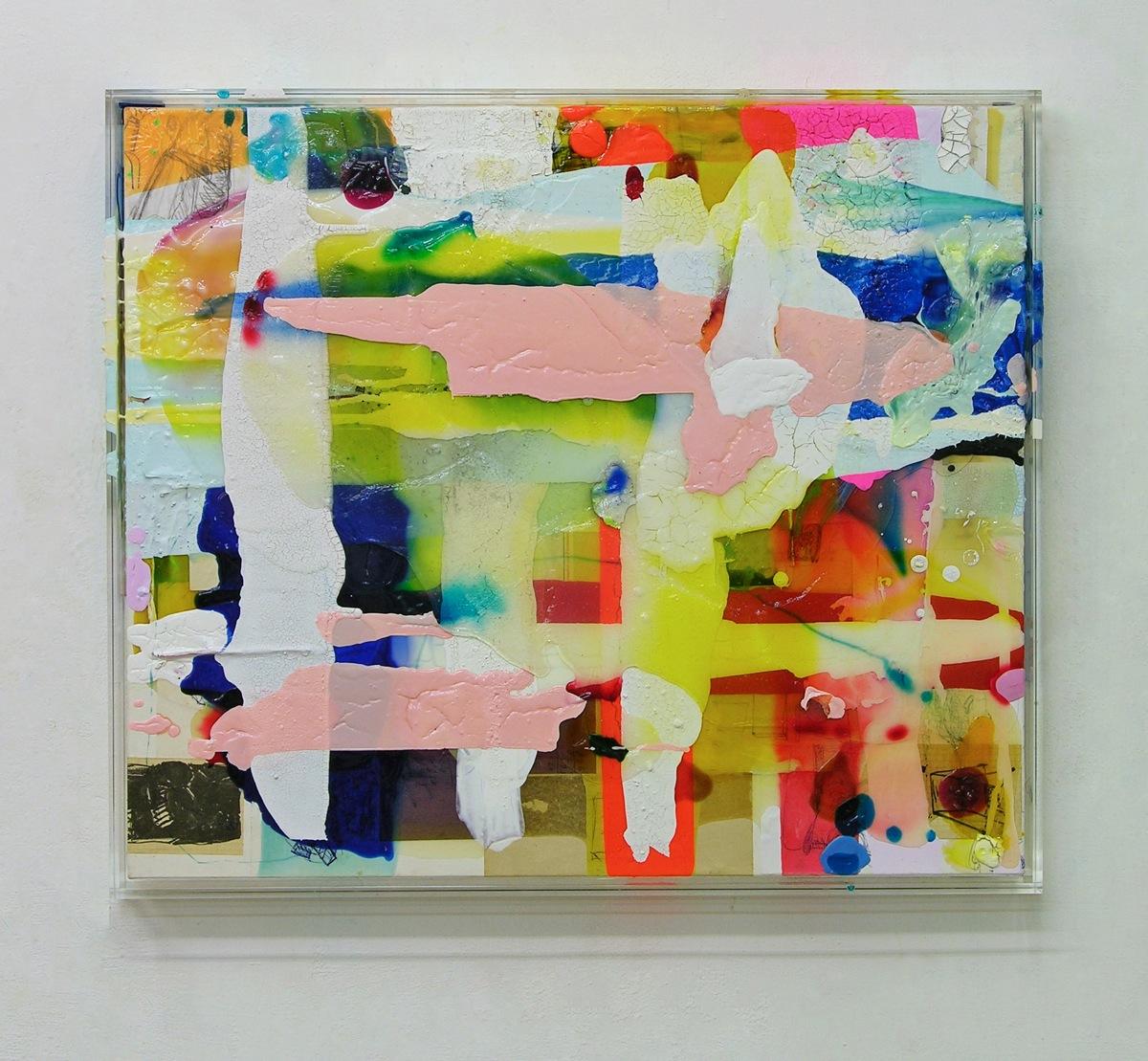 """""""Wittstock"""", 53x63x5 cm, Acrylfarbe, Leinwand, Plexi, 2016"""