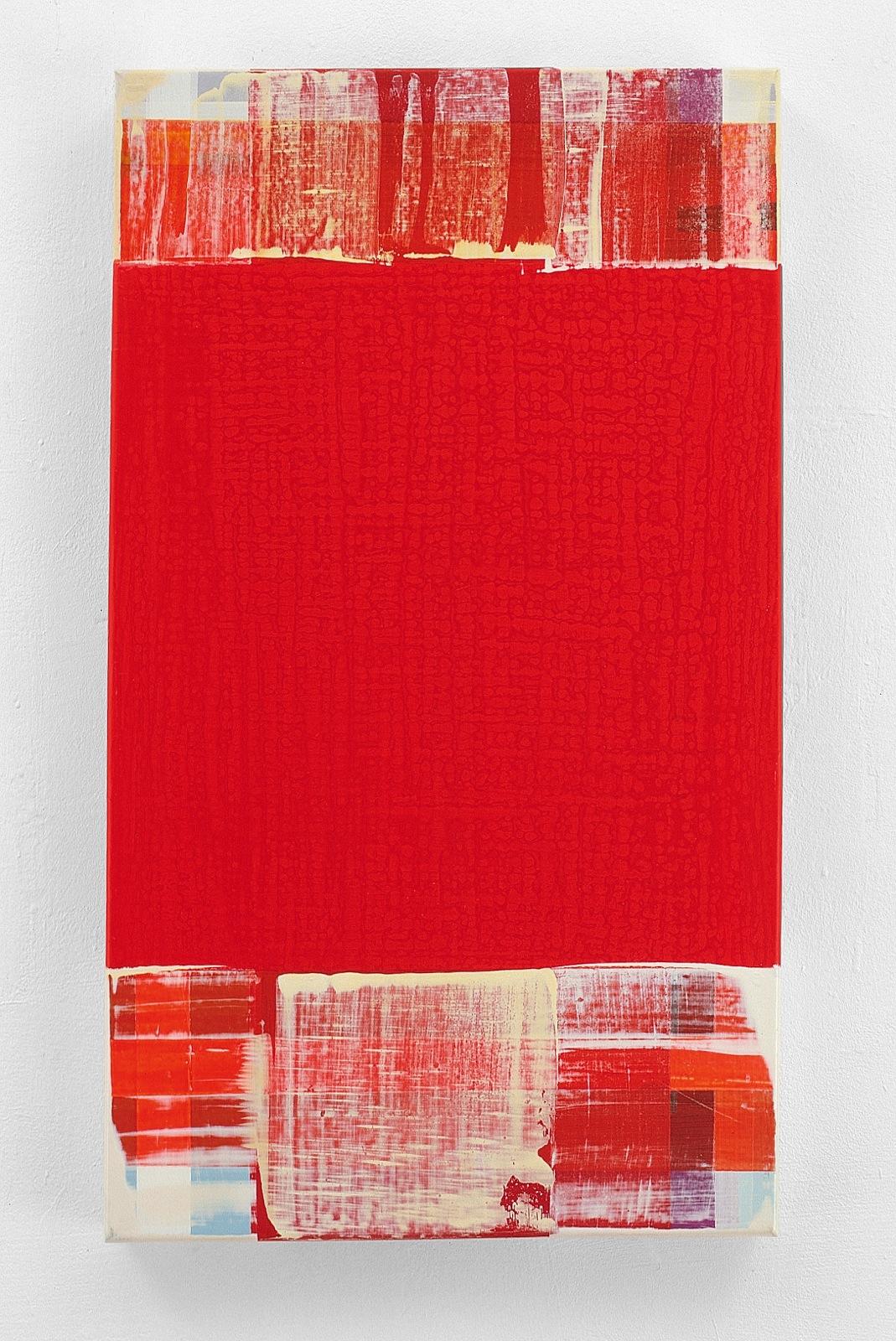 """""""Red Roaster"""", 80x60 cm, Acrylfarbe, Leinwand, 2001"""