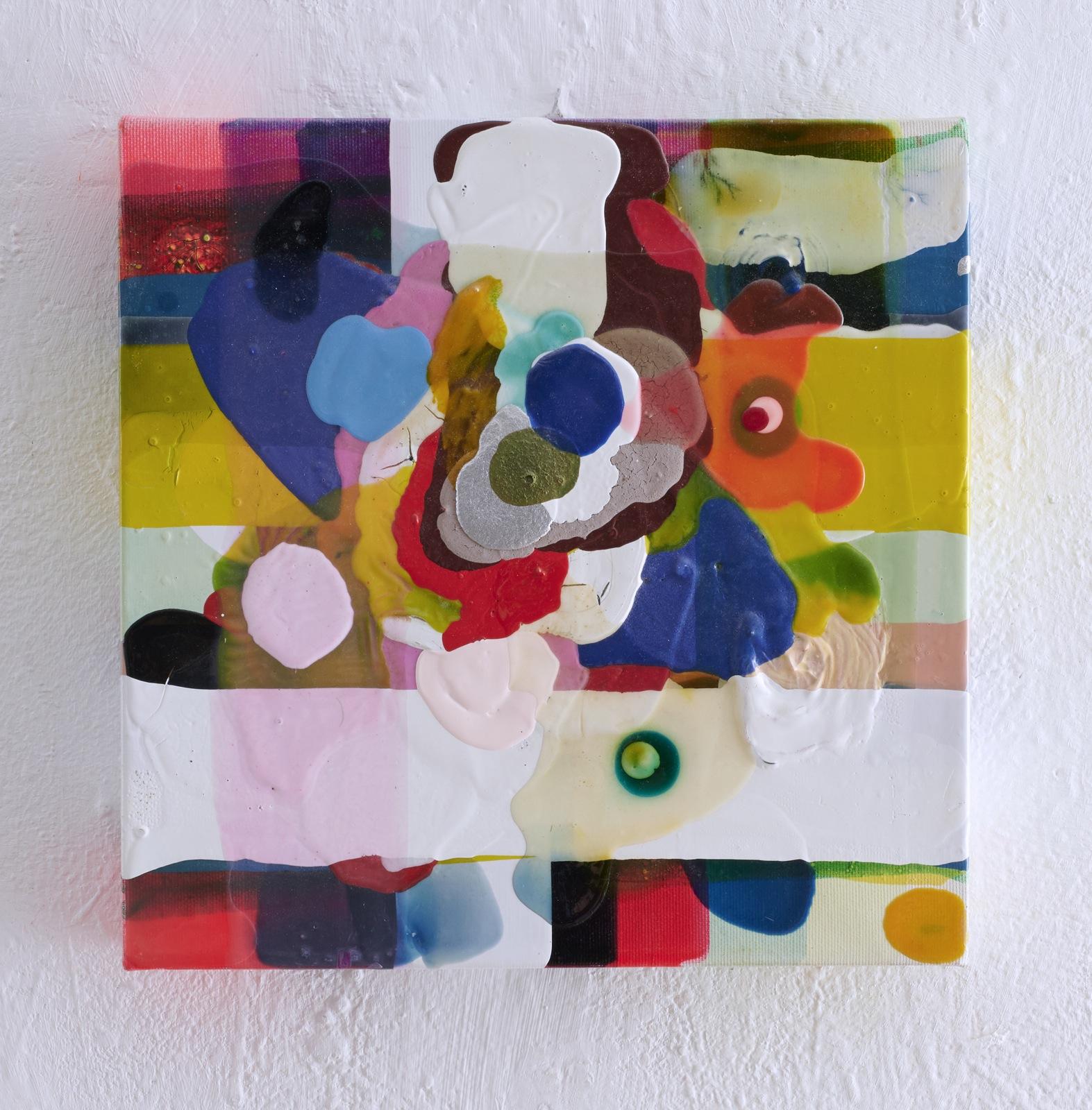 """""""Tripping"""", 30x30x4 cm, Acrylfarben, Leinwand, 2005"""