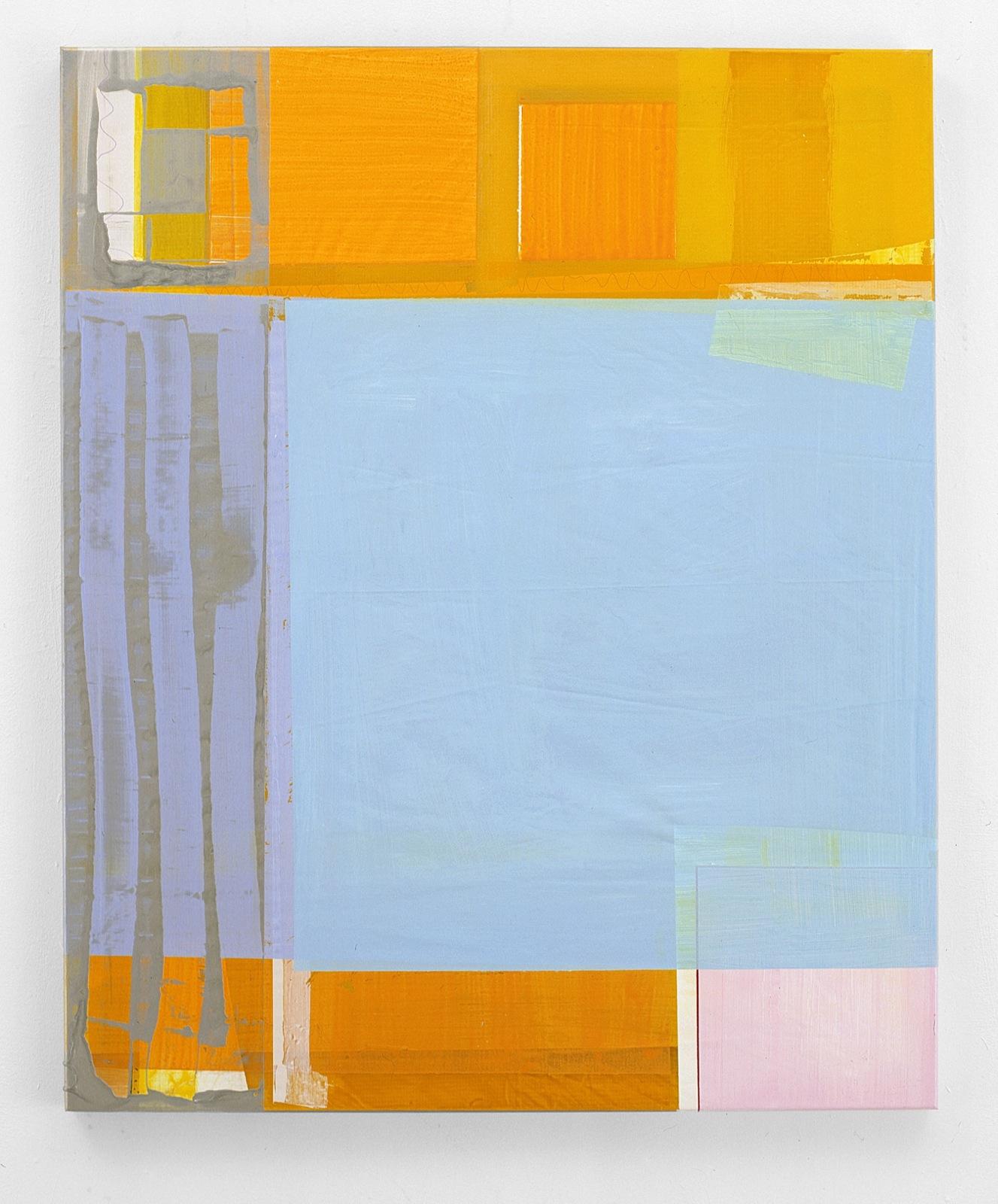 """Celeste"", 90x110 cm, Acrylfarbe, Zeltplane, 2001"