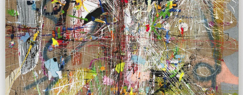 """""""Schlüsselbild"""", 180x150 cm, Acrylfarbe, Jute, 2015"""