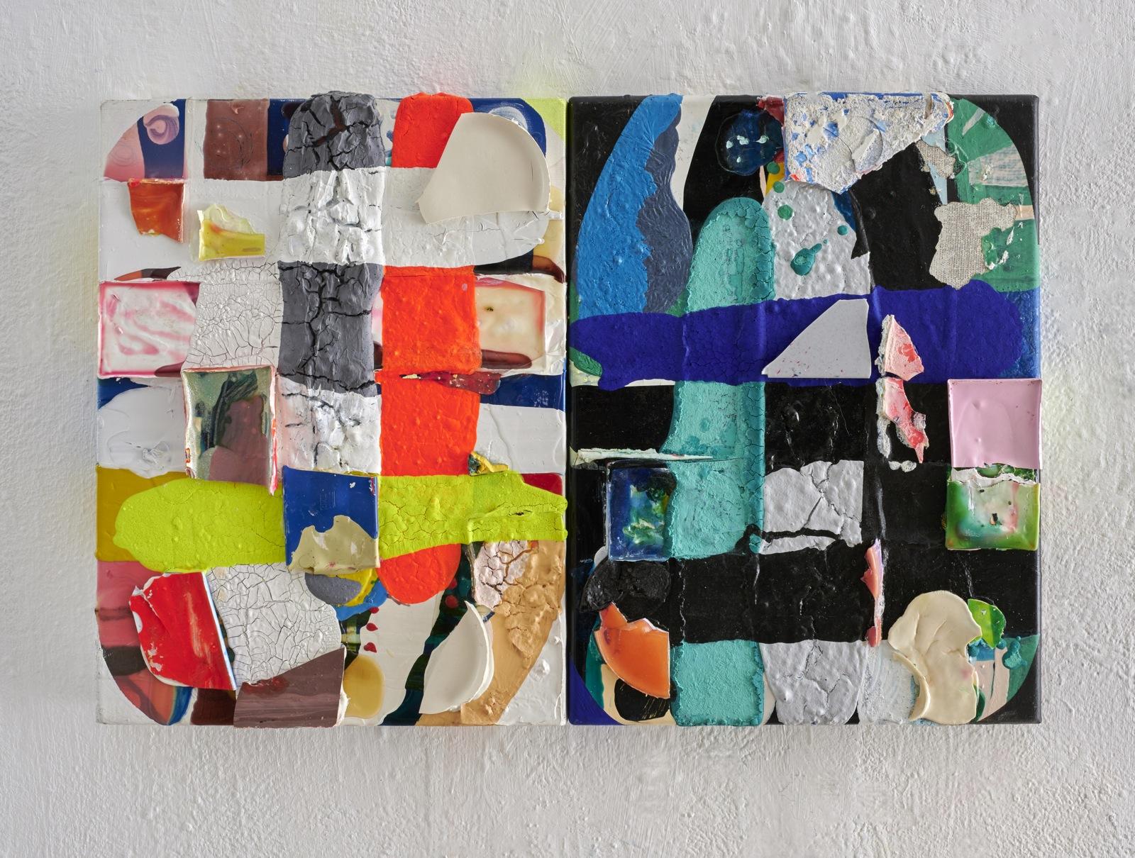 """""""Spiegelung"""", 40x60 cm, Acrylfarbe, Leinwand, 2016"""