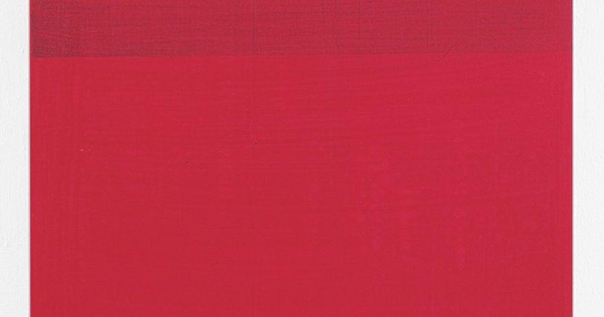 """Rotband"", 60x90 cm, Acrylfarbe, Leinwand, 2001"
